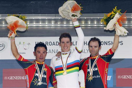 Podium Mundial de Ciclismo