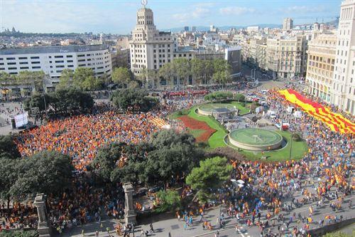 Manifestacion 12O plaza de Cataluña