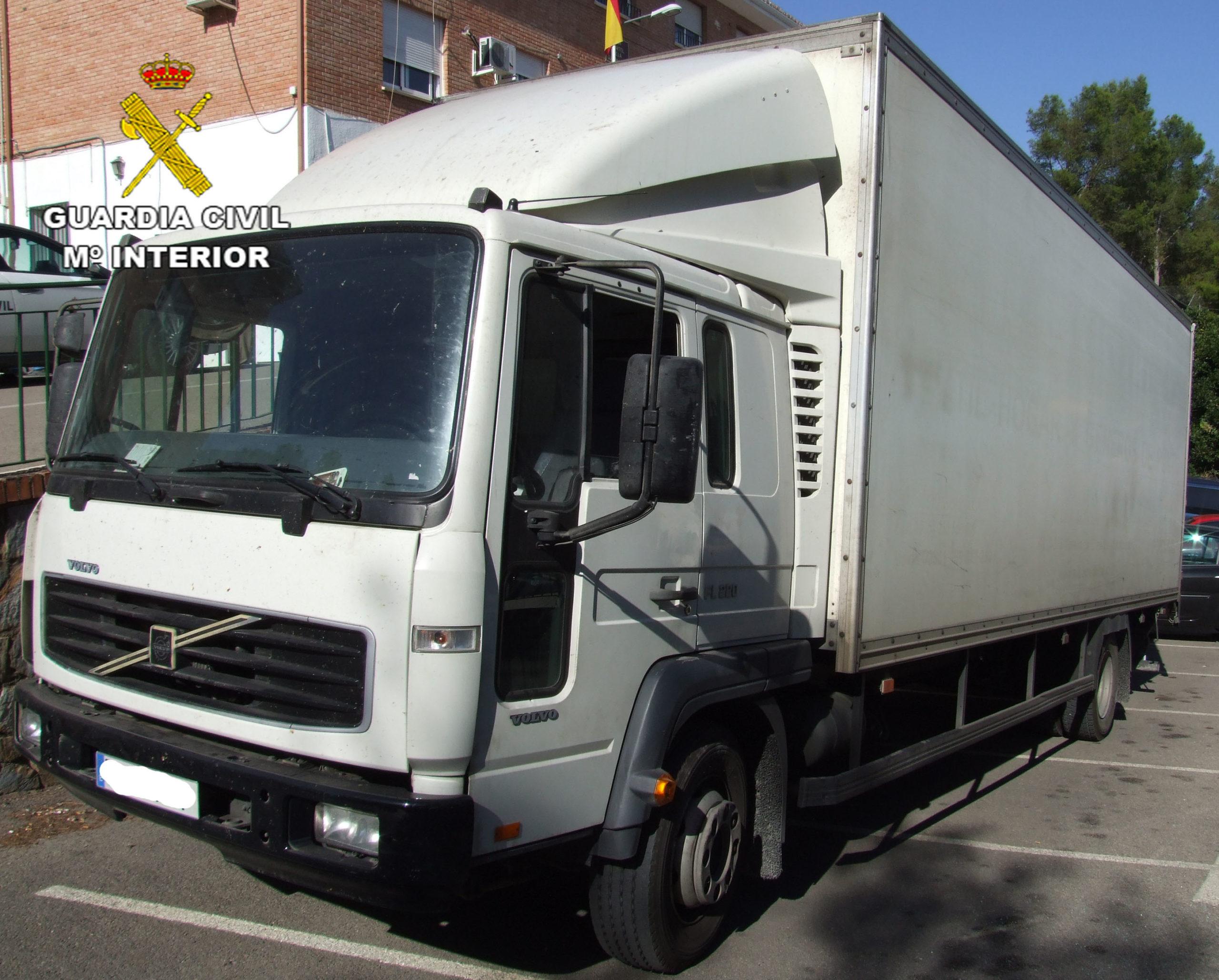 camión recuperado en Loja