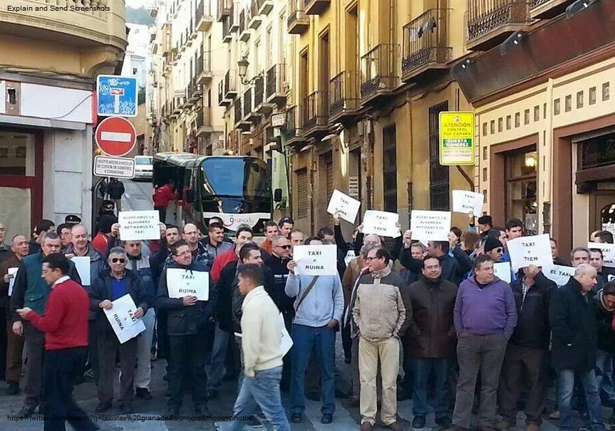 Taxistas granada protesta