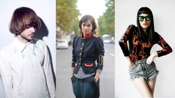 los tres diseñadores