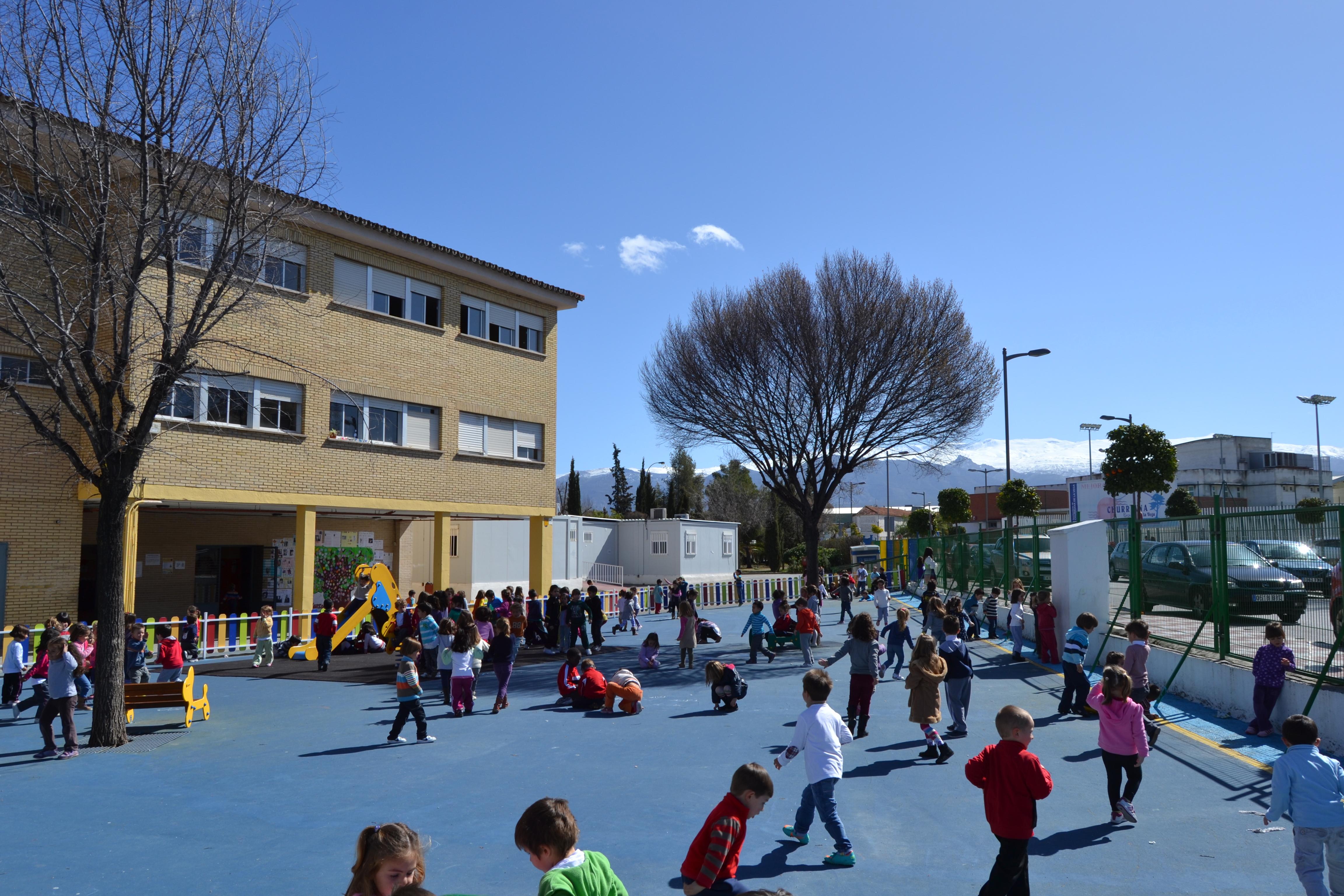 Imagen de uno de los colegios afectados por la instalación de aulas prefabricadas