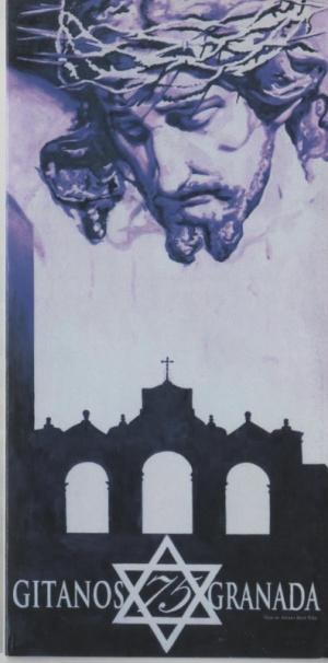 Cartel conmemorativo de los 75 años de la Hermandad de los Gitanos. Álvaro Abril (autor) y Manuel Lirola (fotógrafo)