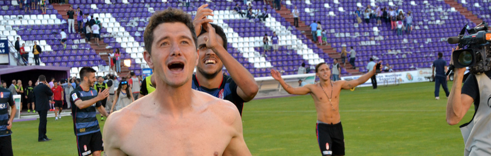 Piti Celebración Permanencia Granada CF Valladolid Portada