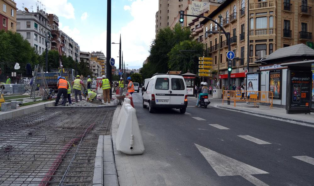 Pajaritos Caleta Parada Taxis mediana Obras