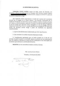 petición |indulto |carmen y carlos