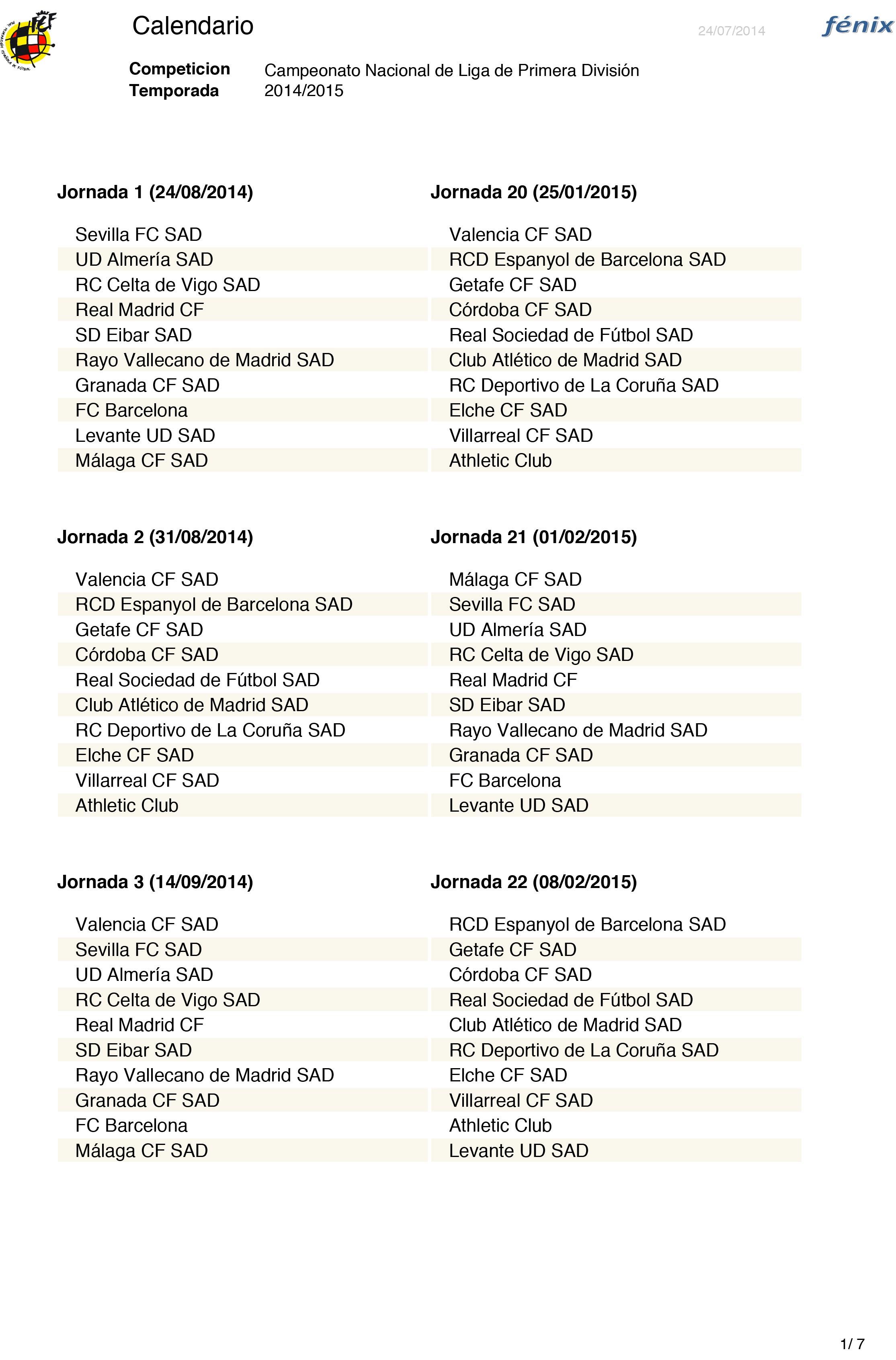 calendario granada cf