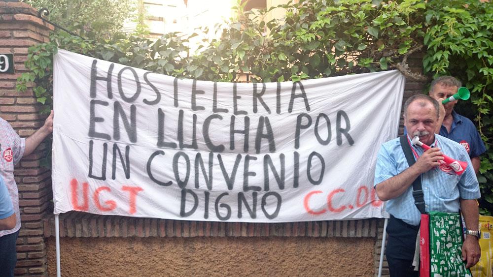 CCOO UGT Hotelería Protestas