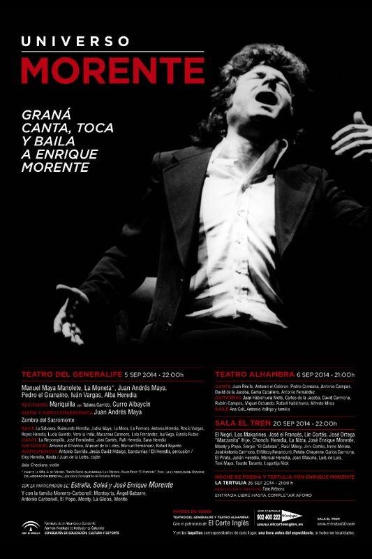 cartel-Universo-Morente-Homenaje-Enrique-morente-en-la-Sala-El-Tren-Granada