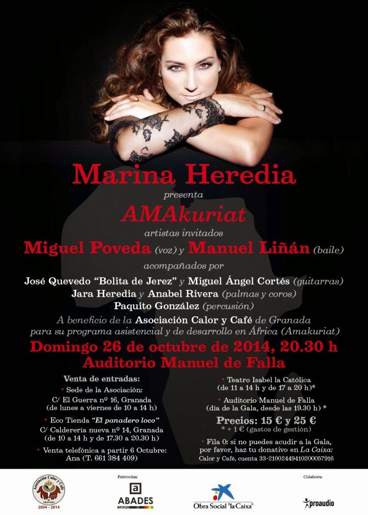 CARTEL-AMAkuriat-Marina Heredia-26-10-2014