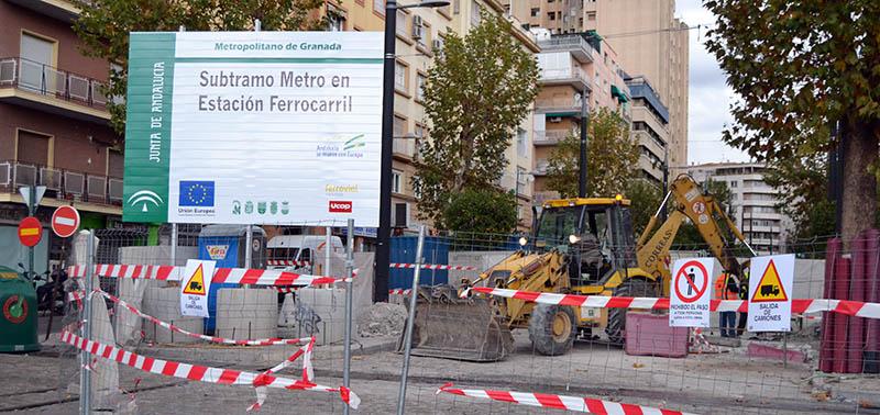 Obras metro Adif estación 1