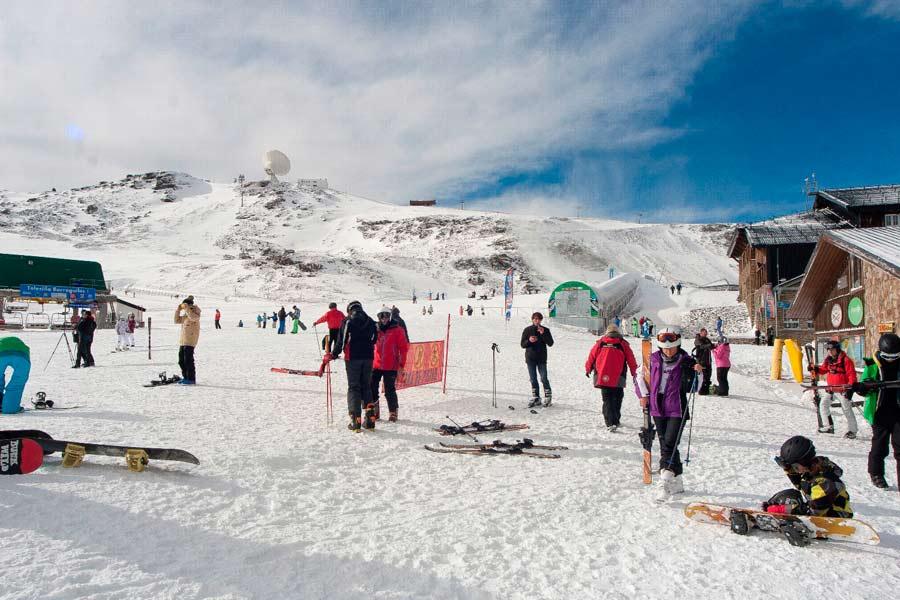 Sierra Nevada esquiadores