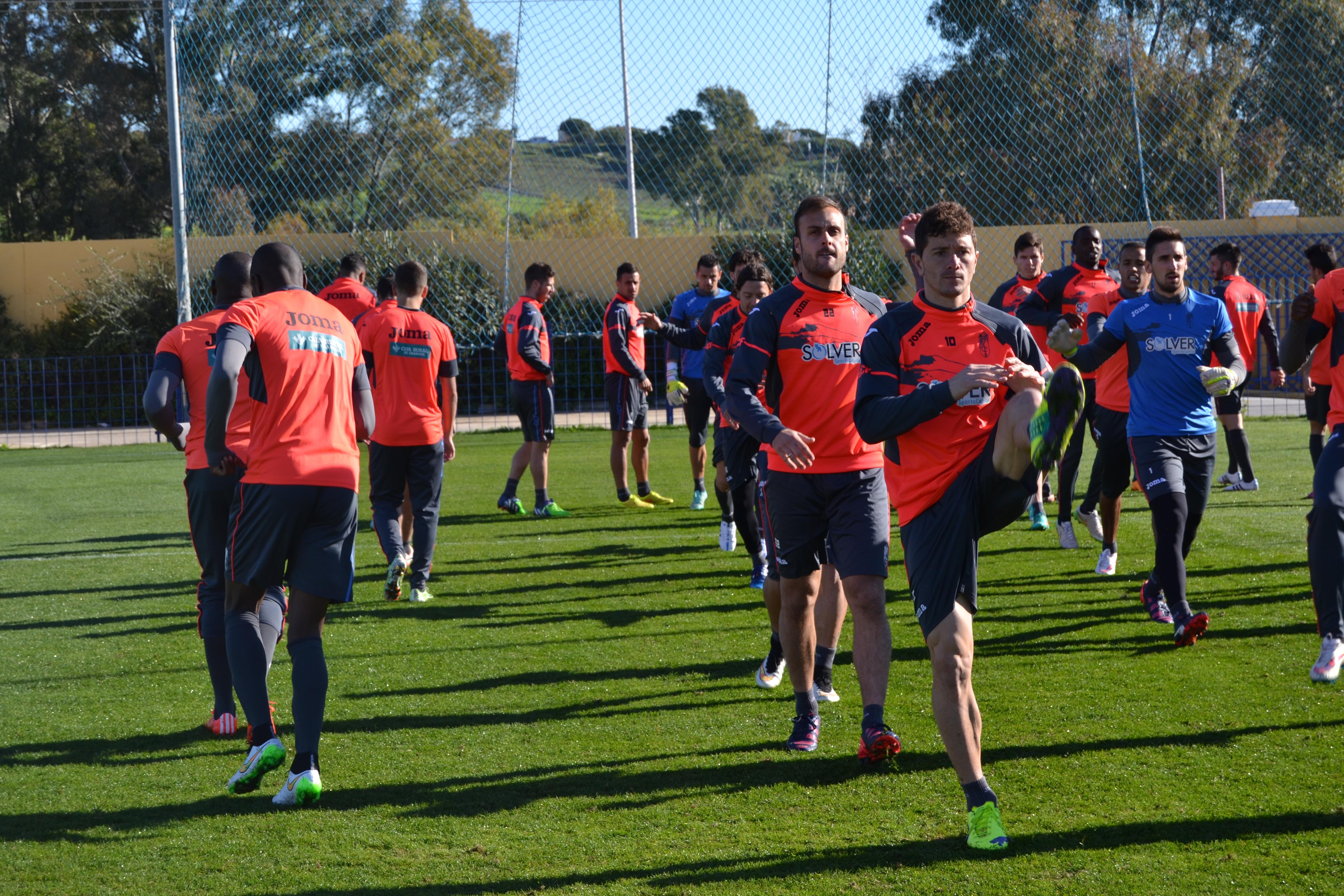 Entrenamiento del Granada CF en San Pedro