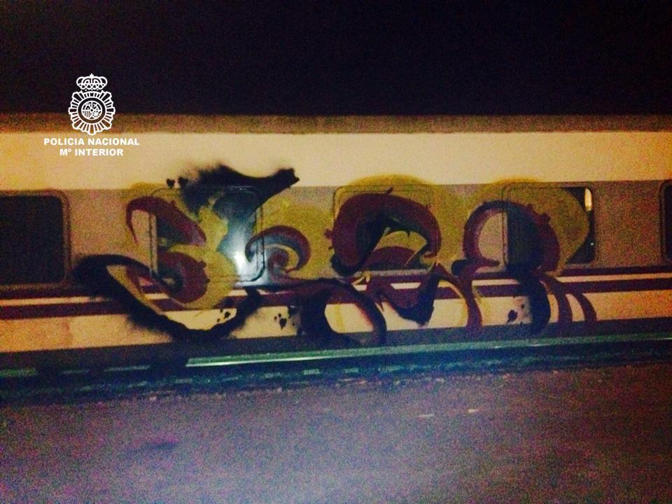 grafitis en vagones