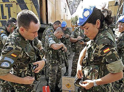 soldados españoles en líbano