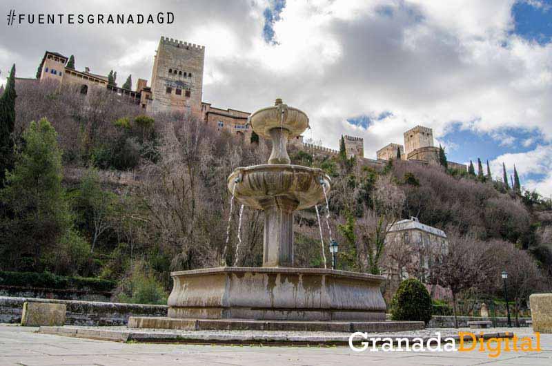 Fuente-Paseo-de-los-Tristes-y-Alhambra