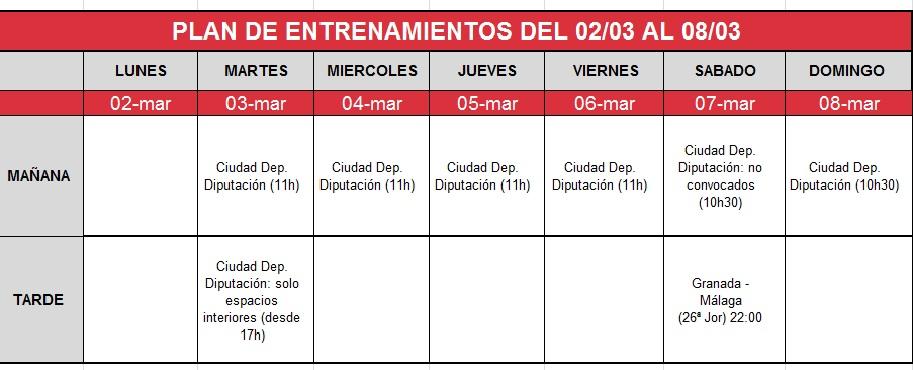 plan-entrenamiento-02-08-marzo Granada CF