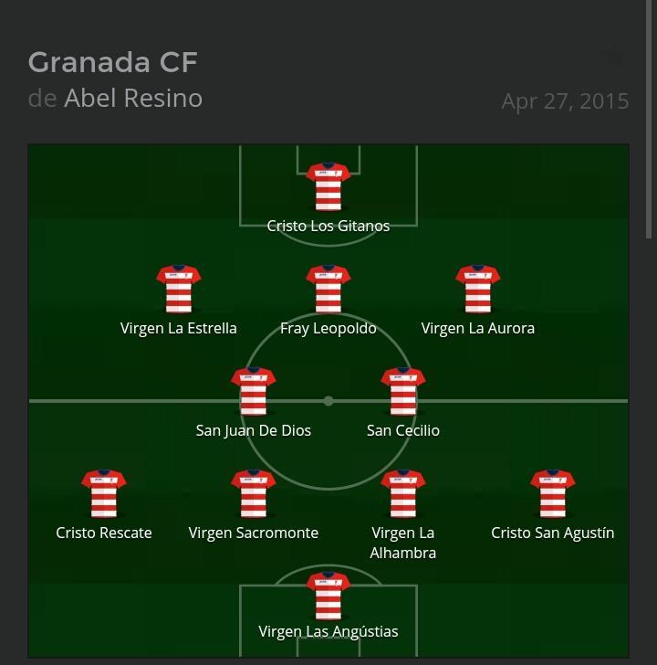 Alineación Valencia Granada CF Santos