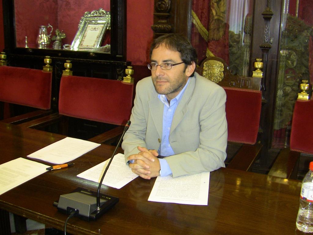 El concejal del PSOE, Miguel Angel Fernandez Madrid