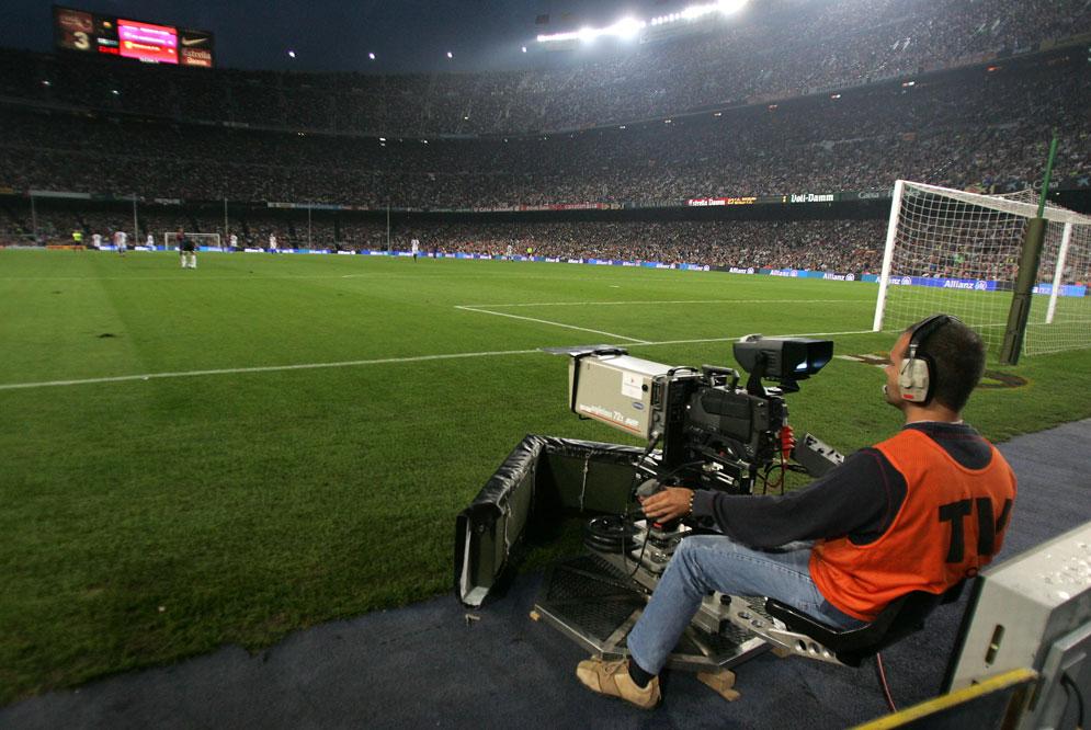 camara television  futbol