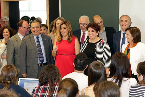 Inauguración Facultad Ciencias 5 Susana Díaz  Lodeiro Indalecio clases