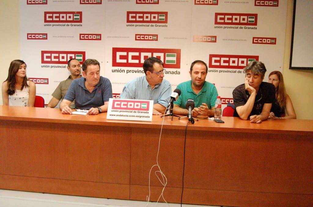 Trabajdores TG7 comisiones obreras
