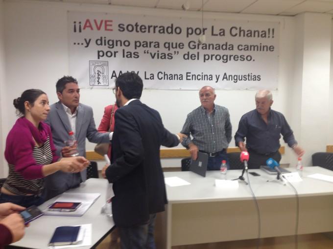 CHANA AVE VECINOS REUNION GRUPOS MUNICIPALES
