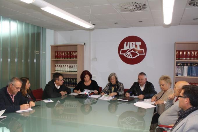 REUNION-PSOE-CCOO-UGT-GRANADA