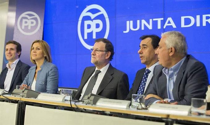 Rajoy-Cospedal-Arenas-Rueda-Prensa-EP