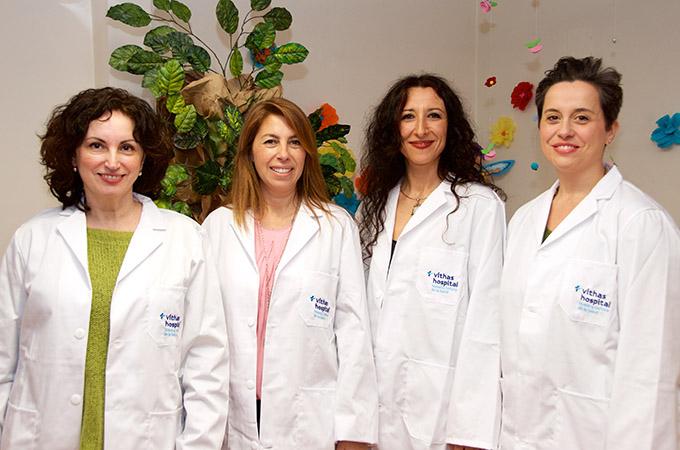 vitha hospital  Antonia Antúnez, Alicia Fernández, Silvia López y Francisca del Rio