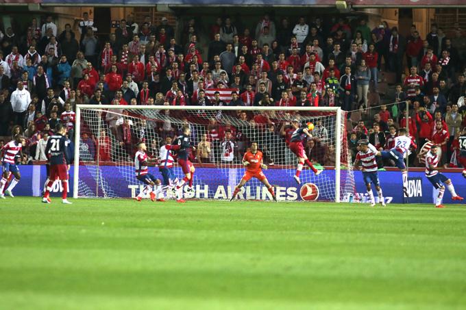 Granada CF - Atlético de Madrid gol Godin