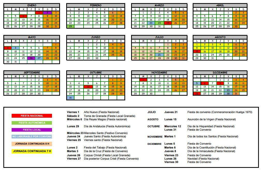 Calendario Laboral De La Construccion.Nuevo Calendario Laboral Para El Sector De La Construccion En 2016