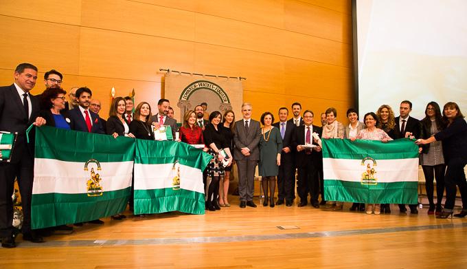 Entrega Banderas Andalucía Premiados y Delegados -1