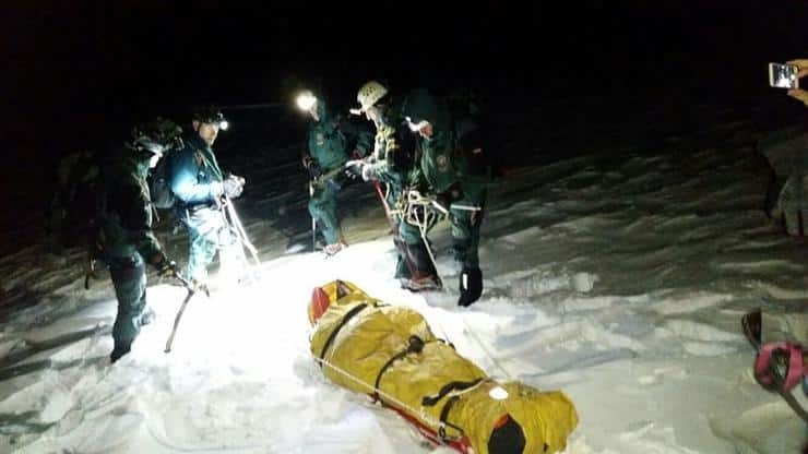 rescate montañero sierra nevada guardia civil