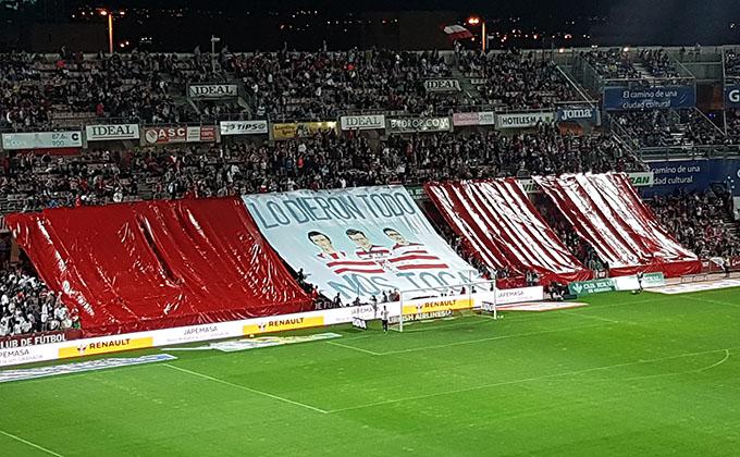 Tifo POrta Chikito Lucena Granada CF Las palmas
