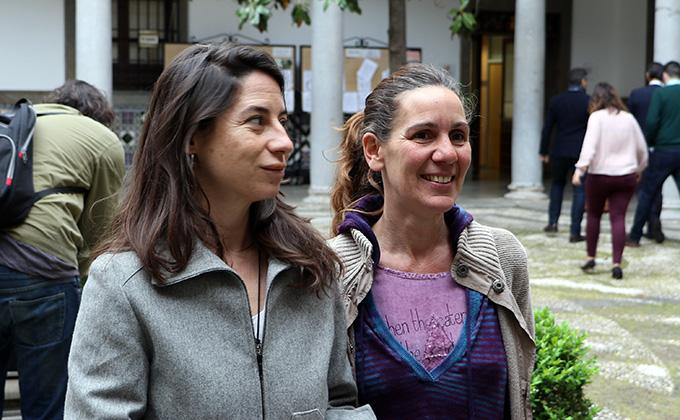 Marta Gutiérrez y Pilar Rivas Vamos Granada Podemos