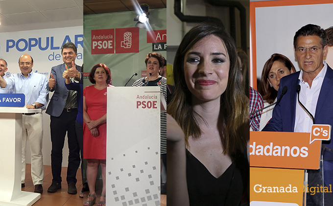Collage 26J noche electoral escrutinio sebastián pérez carlos rojas elvira ramon teresa jimenez ana terron luis salvador