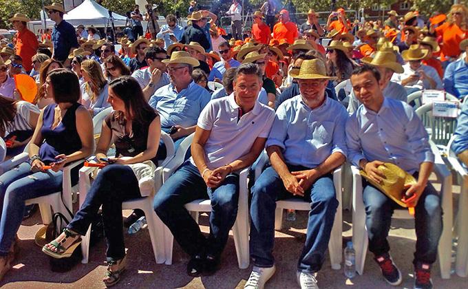 Luis Salvador en el acto central de campaña de Ciudadanos en Madrid