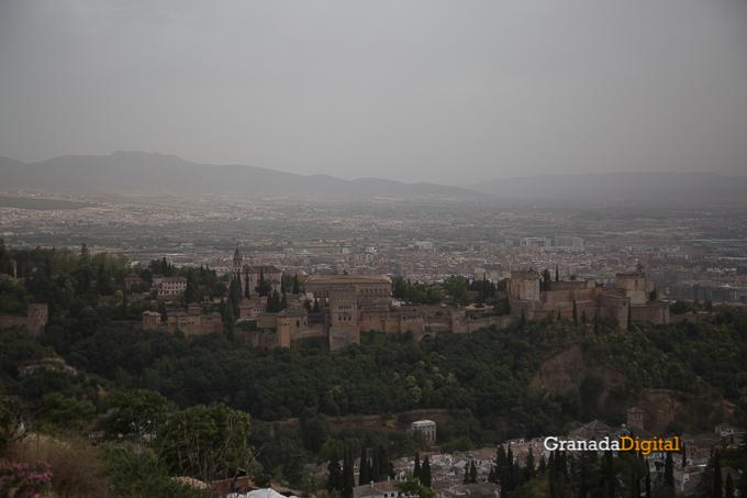 Calima Calor Granada miradores vistas-8 alhambra