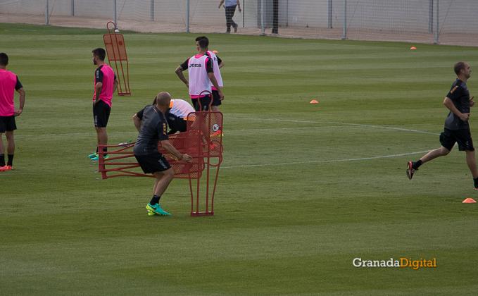 Primer entrenamiento Paco Jémez Granada CF Tito Boga ciudad deportiva-22