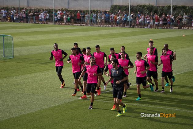 Primer entrenamiento Paco Jémez Granada CF Tito Boga ciudad deportiva-4