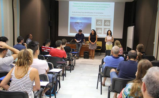 acto inaugural curso de verano física y matemáticas Almuñécar