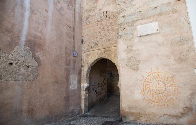 arco de las pesas BIC pintadas caámras albaicín