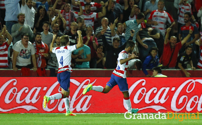 celebracion gol carcela GRANADA C.F. - ATHLETIC CLUB DE BILBAO