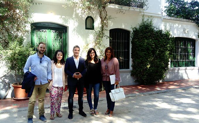 los-concejales-manuel-olivares-y-lorena-rodriguez-junto-a-miembros-del-grupo-municipal-de-ciudadanos