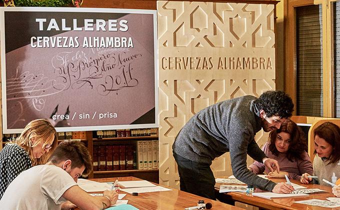 taller-cervezas-alhambra-de-caligrafia-expresiva