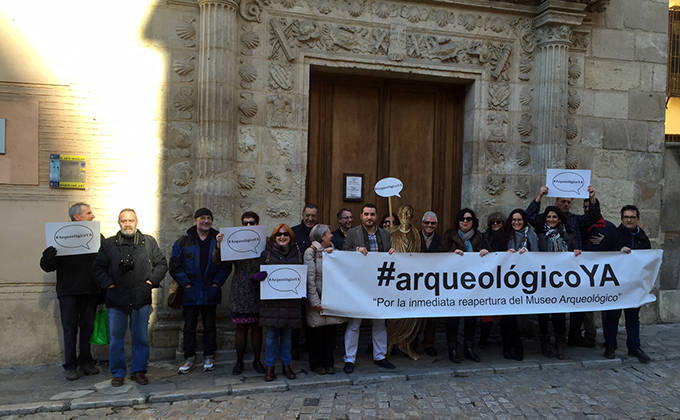 protesta museo arqueologico ciudad accesible