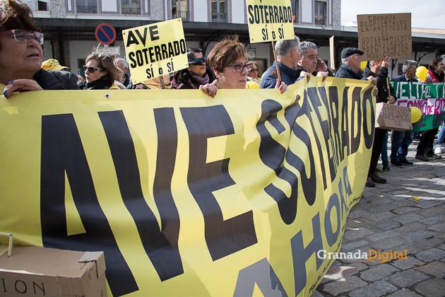 Manifestacion AVE Febrero 2017 marea amarilla-2
