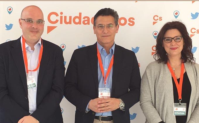 Raúl Fernández, Luis Salvador y María del Mar Sánchez