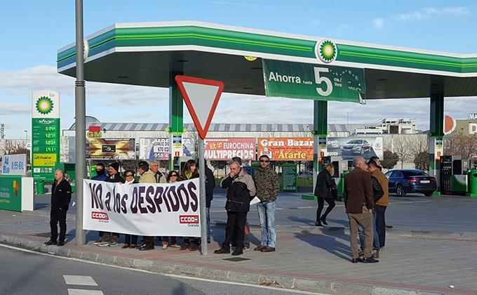 concentracion contra despido trabajadora BP